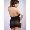 Lovehoney Plus Size Black Halterneck Mini Dress