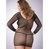 Lovehoney Plus Size Long Sleeve Crochet Mini Dress