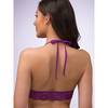 Lovehoney Love Me Lace Halter Bra Plum