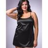 Lovehoney Plus Size Lace-Up Satin Chemise Black