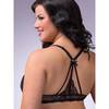 Lovehoney Plus Size Spoil Me Satin Plunge Bra Black
