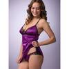 Lovehoney Satin Crotchless Brazilian Panties Plum