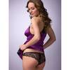 Lovehoney Satin Crotchless Brazilian Knickers Plum