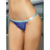 Coquette Bright Blue Crotchless Lace Knicker