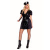 Music Legs Plus Size 6-Piece Wet Look Sexy Cop Outfit