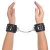 Bondage Boutique Leather Pleasure Handcuffs Black