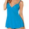 Sheer Lace Babydoll with Underwired Cups