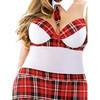 Fantasy Curve Plus Size Underwired And Padded Schoolgirl Set