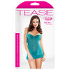Fantasy Teal Moulded Cup Sheer Lace Chemise Set