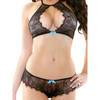 Fantasy Eyelash Lace Bra and Panty Set