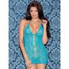 Glitter Halter Floral Chemise with Centre Cut-Out