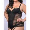 Lovehoney Plus Size Flaunt Me Floral Lace Balcony Cup Basque