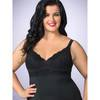 Lovehoney Plus Size Adore Me Chemise Set Black
