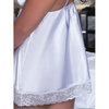 Seven Til Midnight Plus Size Enchanting White Satin Babydoll