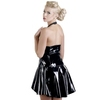 Black Level PVC Neckholder-Minikleid