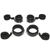 DOMINIX Deluxe Leather Cuffs Bedroom Restraint Kit