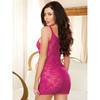 Mini robe en dentelle transparente rose sexy, Dreamgirl