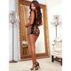 Dreamgirl Lace Back Leopard Print Chemise