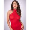 Lovehoney rotes All-in-one-Set aus transparentem Kleid und Strümpfen