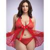 Lovehoney Plus Size Unwrap Me Babydoll in Red