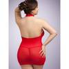 Lovehoney Plus Size Red Halterneck Mini Dress