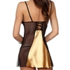 Beauty Night Satin and Lace Gold Chemise