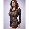 Lovehoney Plus Size Off the Shoulder Lace Mini Dress