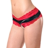 Escante Bow Back Crotchless Lace Briefs