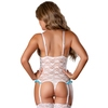 Exposed Luv Floral Lace Crotchless Open Cup Body Set
