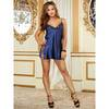 Dreamgirl Midnight Tie Side Charmeuse Chemise