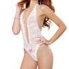 Dreamgirl Open-Back Deep Plunge White Halter Body
