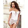 Dreamgirl Beyoncé White Satin and Lace Corset