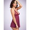 Lovehoney Love Me Lace Raspberry Babydoll and G-String
