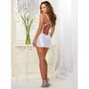 Dreamgirl White Satin and Lace Plunge Chemise