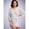 Lovehoney Flaunt Me White Floral Lace Robe