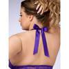 Lovehoney Plus Size Unwrap Me Purple Babydoll