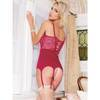 Coquette Berry Lace Sweetheart Corset