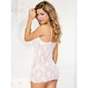 Music Legs White Lace Chemise with Plunge Neck