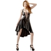 Black Level PVC Deep Plunge Halterneck Dress