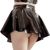 Black Level PVC Zip-Up Skater Skirt