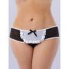 Lovehoney Fantasy Plus Size Crotchless Ruffle Back French Maid Knickers