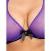 Lovehoney Plus Size Barely There Sheer Purple Underwired Bra
