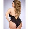 Lovehoney Plus Size Barely There Sheer Black Crotchless Teddy