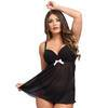 Lovehoney Barely There Babydoll-Set (schwarz)