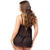 Lovehoney Barely There Black Push-Up Babydoll Set