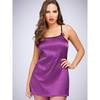 Lovehoney Plum Lace-Up Satin Chemise