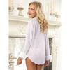 Dreamgirl Sheer Boyfriend Shirt and Lace Bra Set