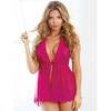 Dreamgirl Tie-Front Sheer Ruffle Babydoll Set