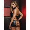 Dreamgirl Wet Look Criss-Cross Chemise Set