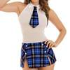 Dreamgirl Tartan Mini Dress and Tie Set